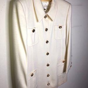 Vintage Escada 100% wool jacket, diamond buttons